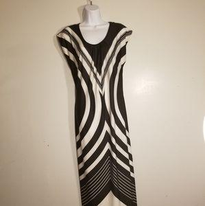 Olivia Matthews Black and White Maxi Dress